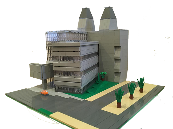 Molecular Research Laboratory, Cambridge - LEGO model by Bricks McGee