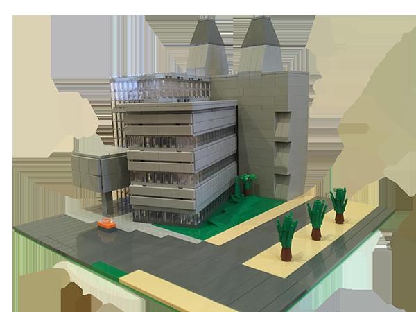 Molecular Research Laboratory, Cambridge - LEGO model by Bricks McGee
