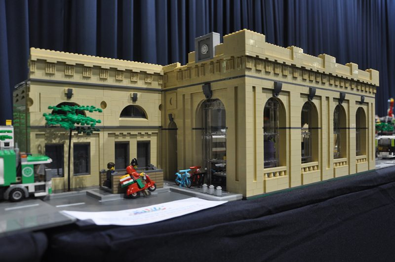 Newcastle Central Station in LEGO