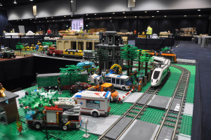LEGO motorway at Bricktastic