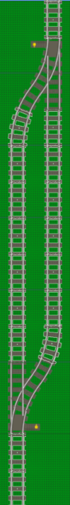 LEGO track: end to end layout
