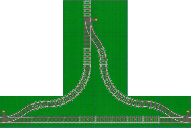 LEGO track geometry: a wye