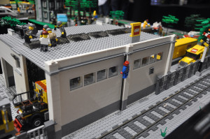 LEGO warehouse/factory at Bricktastic 2015