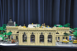 Newcastle Central Station LEGO train display