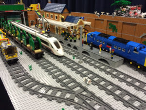 LEGO Ambridge Railway station at Bricktastic 2016 LEGO show