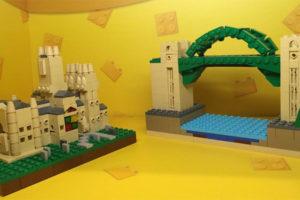 LEGO Durham Cathedral and Tyne Bridge at Metrocentre Gateshead LEGO store