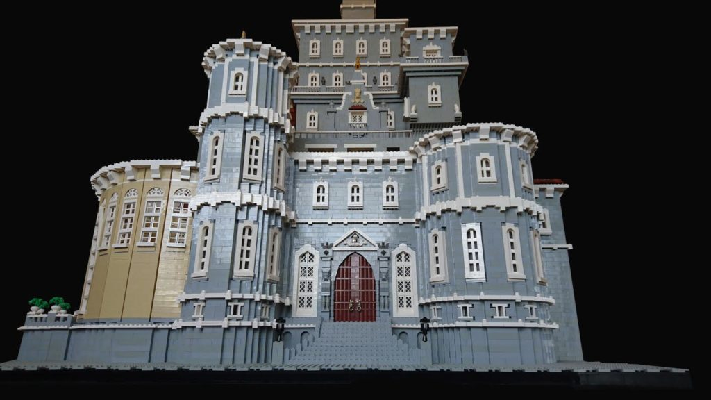 beauty the beasts castle in lego at brick 2016
