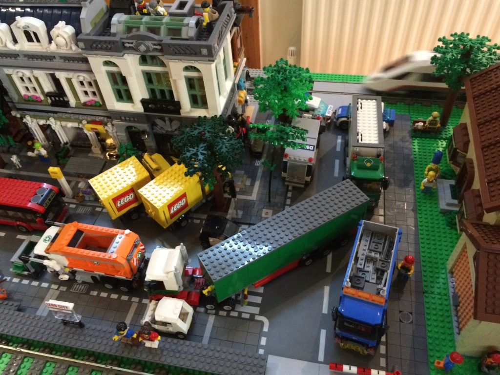 LEGO city display at Consett YMCA 2016