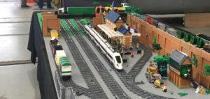 LEGO railway display at Shildon NRM LEGO show 2016