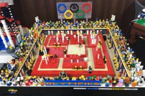 LEGO Olympic Swimming pool MOC by a Sheffield LUG member