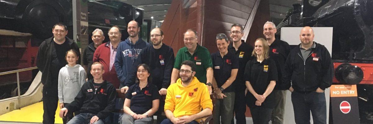 Shildon LEGO show team photo - 2016 LEGO event