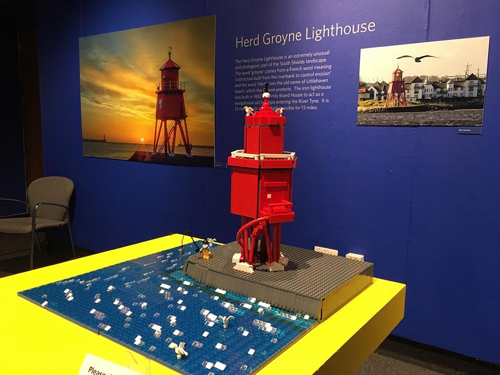 Herd Groyne Lighthouse LEGO model, South Shields