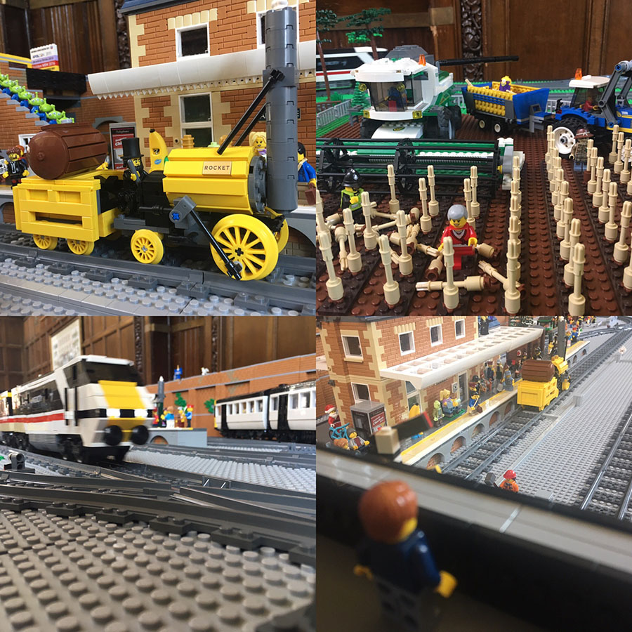 My LEGO train layout at Hull Block Con 2017