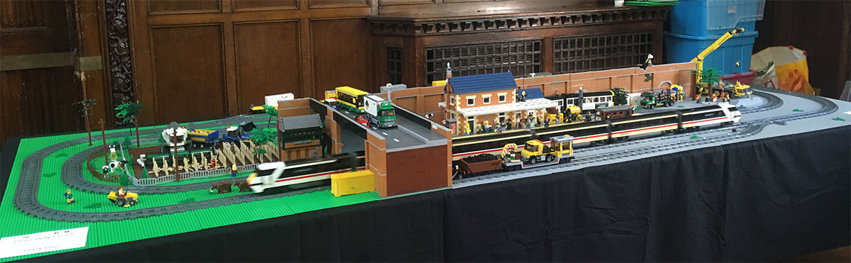 LEGO Intercity 225 model on display at Hull Block Con
