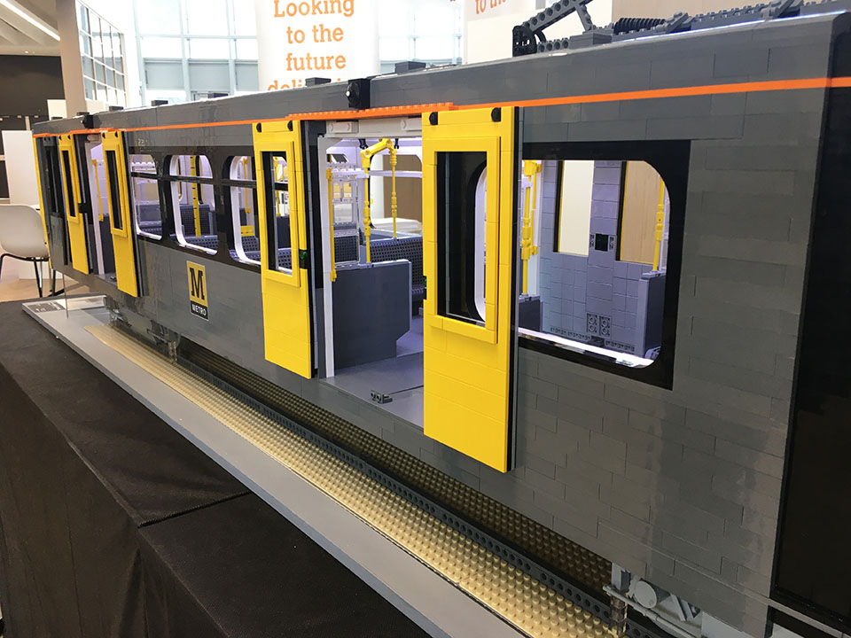 LEGO Tyne & Wear Metro model - Brick Metro
