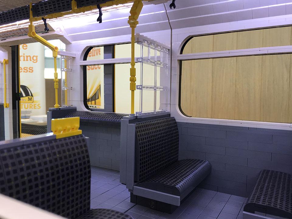 Brick Metro - LEGO Metro train - seat patterns