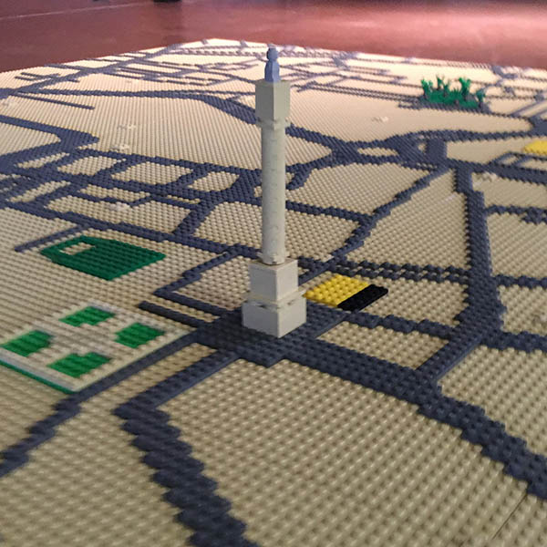 LEGO map of Newcastle upon Tyne
