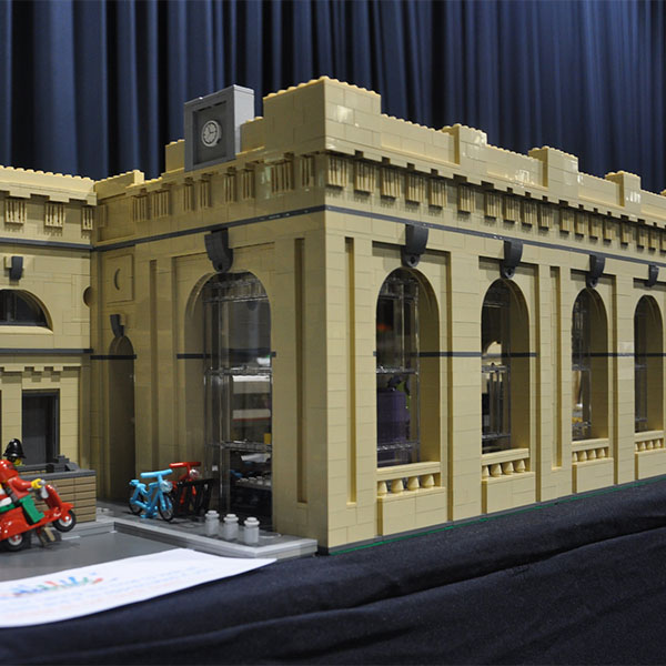 Newcastle Central Station LEGO Model - LEGO model by Bricks McGee