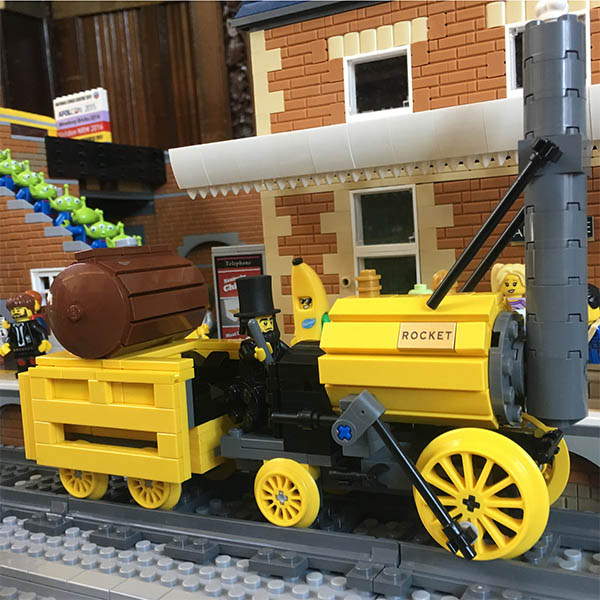 Stephenson's Rocket in LEGO - LEGO model by Bricks McGee