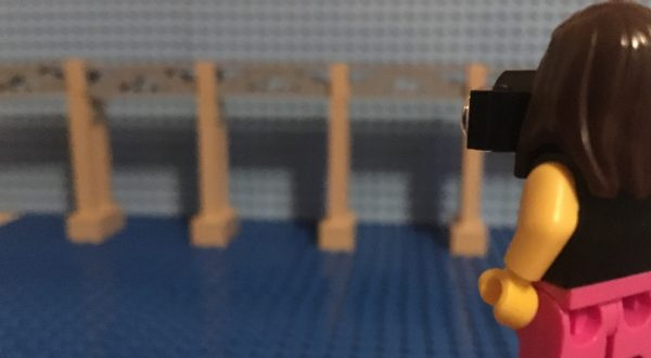 High Level Bridge in Newcastle in LEGO bricks