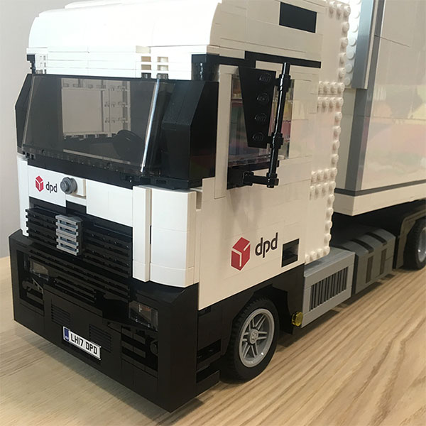 LEGO truck model for DPD Group - LEGO model by Bricks McGee