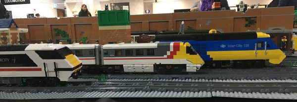 LEGO trains display at Shildon LEGO Show 2017
