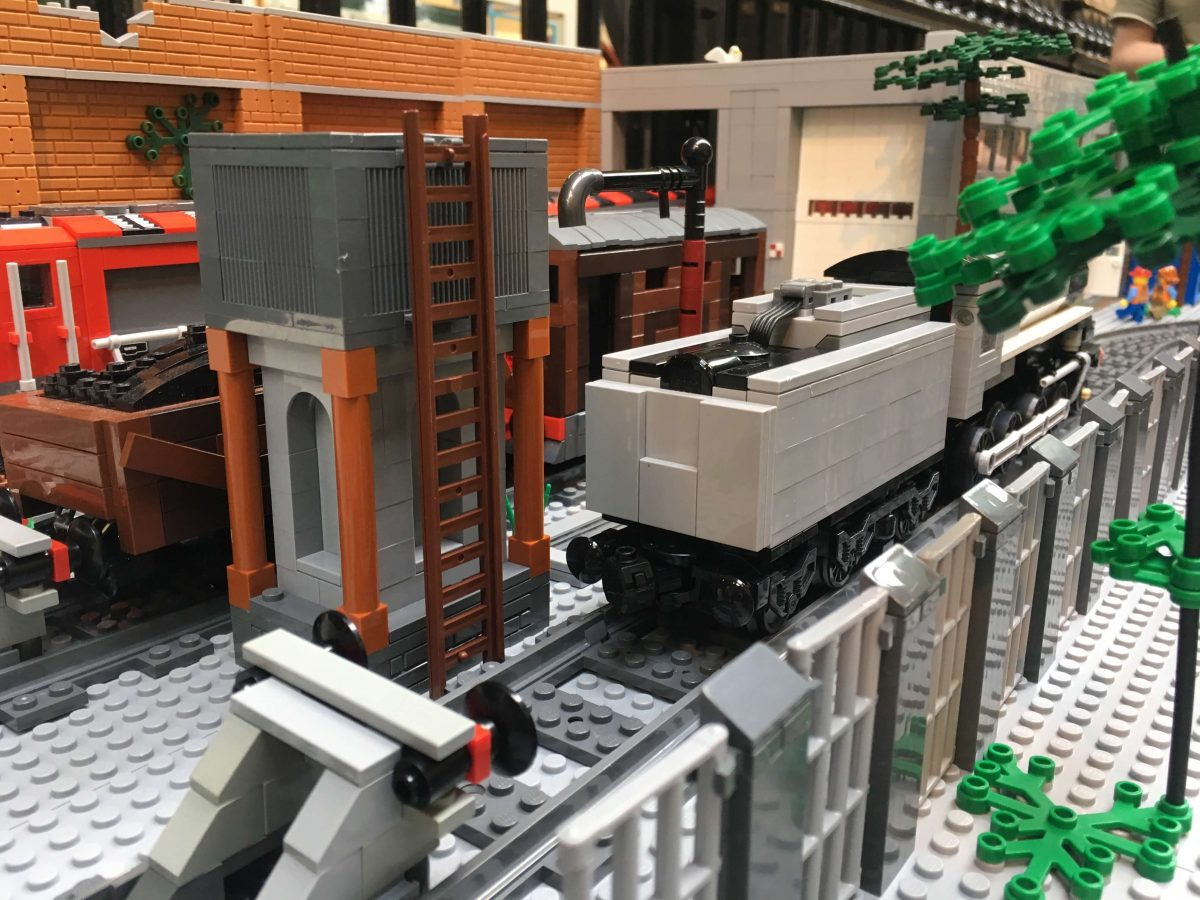 LEGO trains at Head of Steam LEGO Show in Darlington, 2018