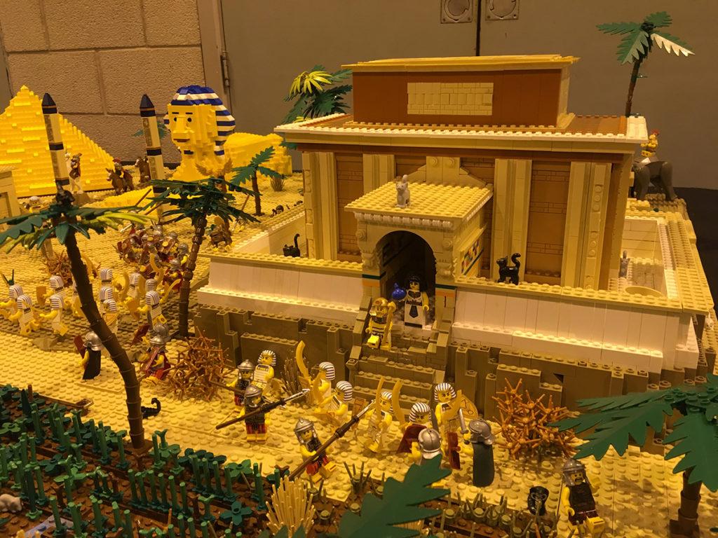 LEGO Egypt display at Sheffield Block Con 2018