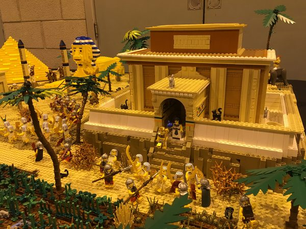 LEGO Egypt display at Sheffield Block Con 2018