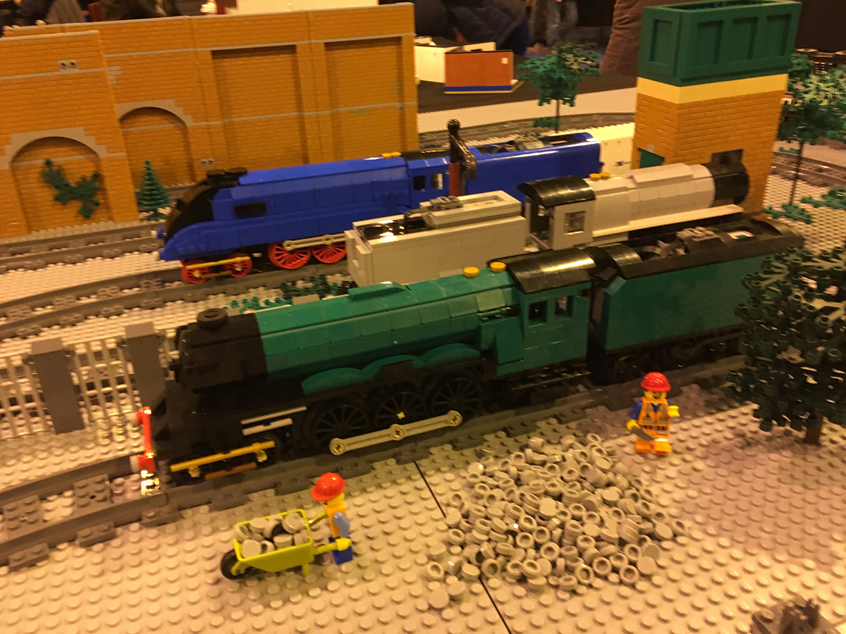 LEGO trains display at Sheffield Block Con 2018