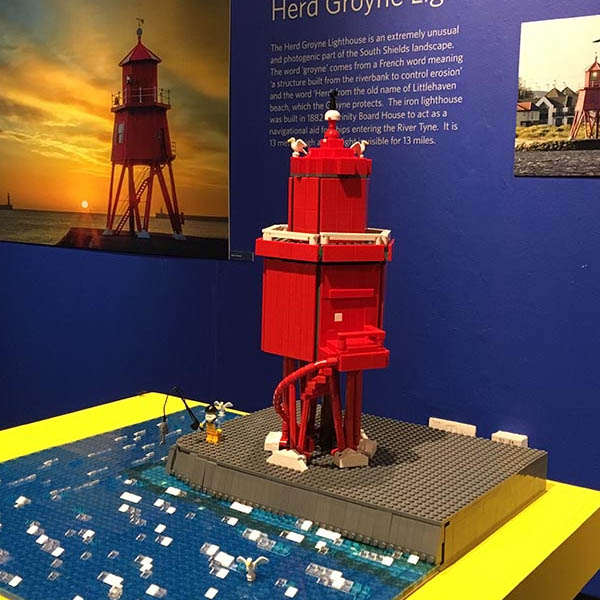 Herd Groyne Lighthouse, South Shields logo - LEGO event and model client of Bricks McGee