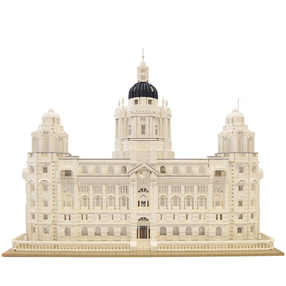 Steve's Liver Building LEGO Model