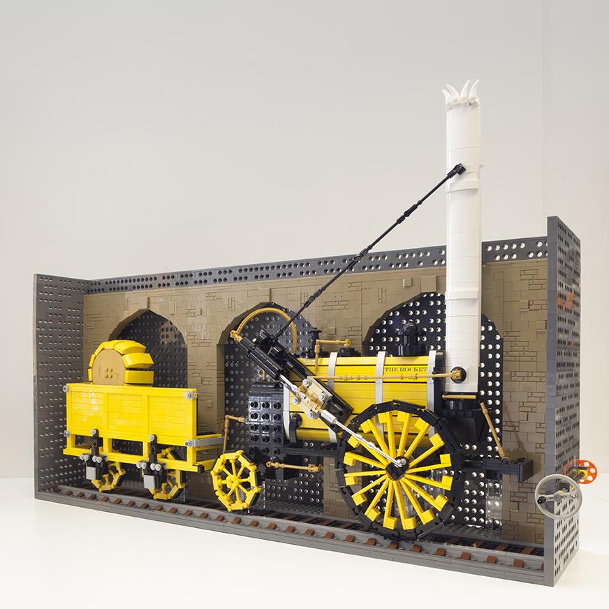 LEGO Rocket model by Steve Mayes