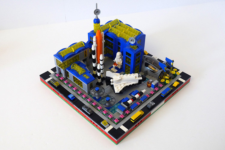 Caz's LEGO micropolis scale Air and Space museum