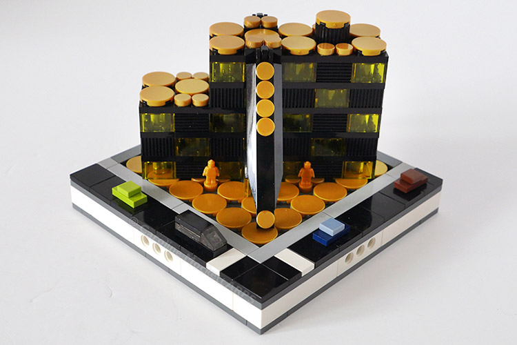 Obsidian House - LEGO Micropolis model