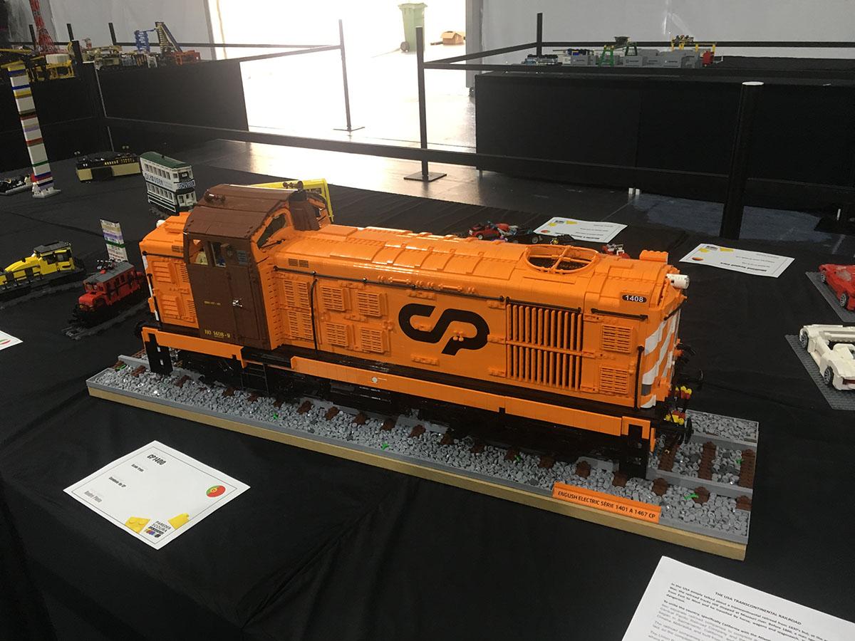 LEGO English Electric locomotive model
