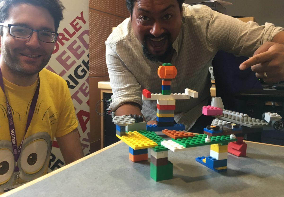 Bricks McGee on BBC Radio Leeds talking about LEGO workshops