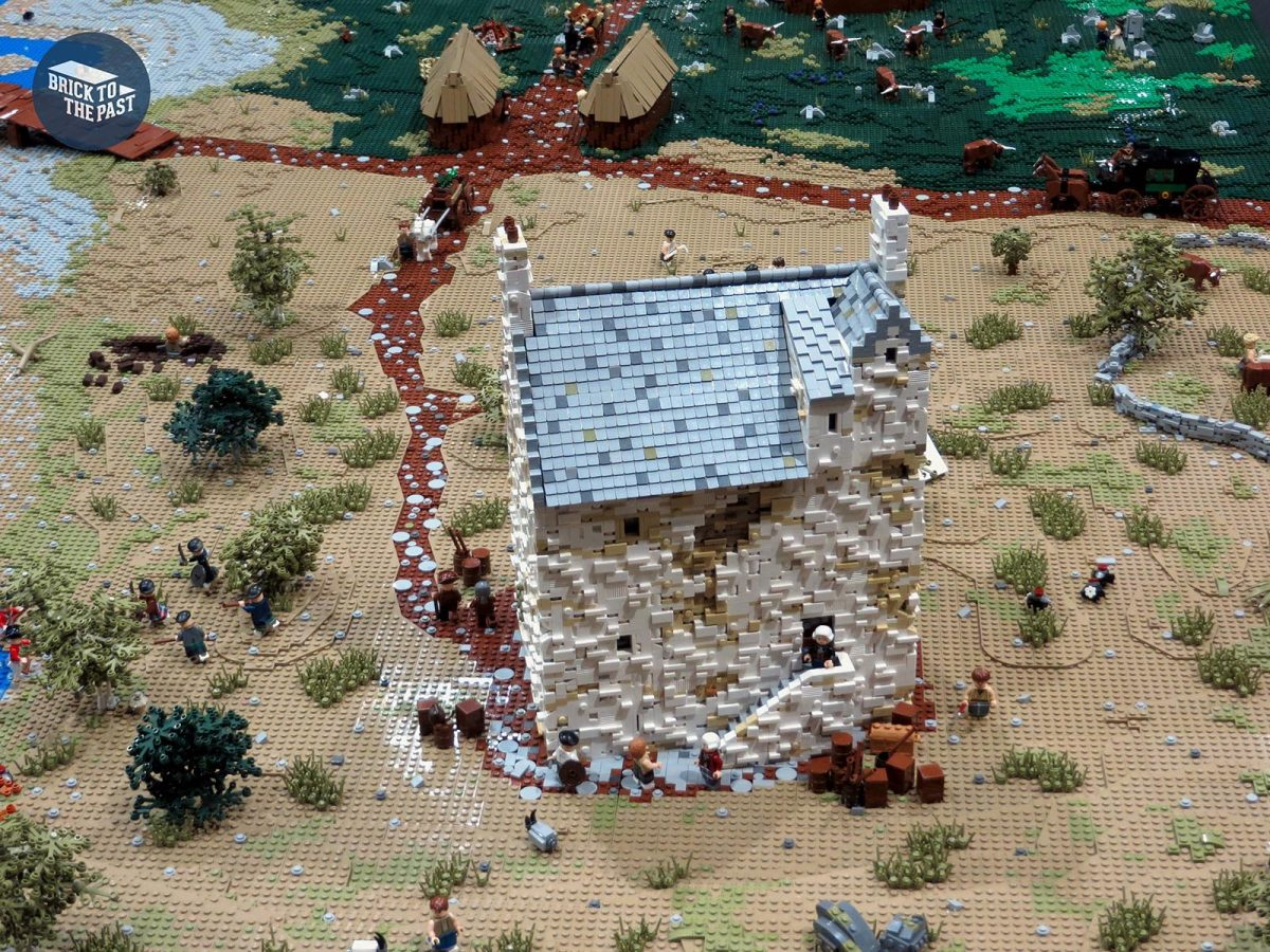 Dan's LEGO model of Corgarff Castle built for the Brick To The Past display