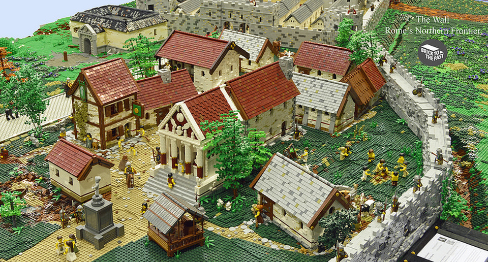 Brick To The Past's brilliant LEGO Hadrian's Wall model