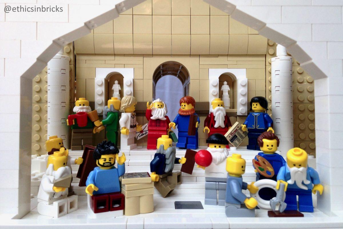 LEGO School of Athens model by EhticsInBricks