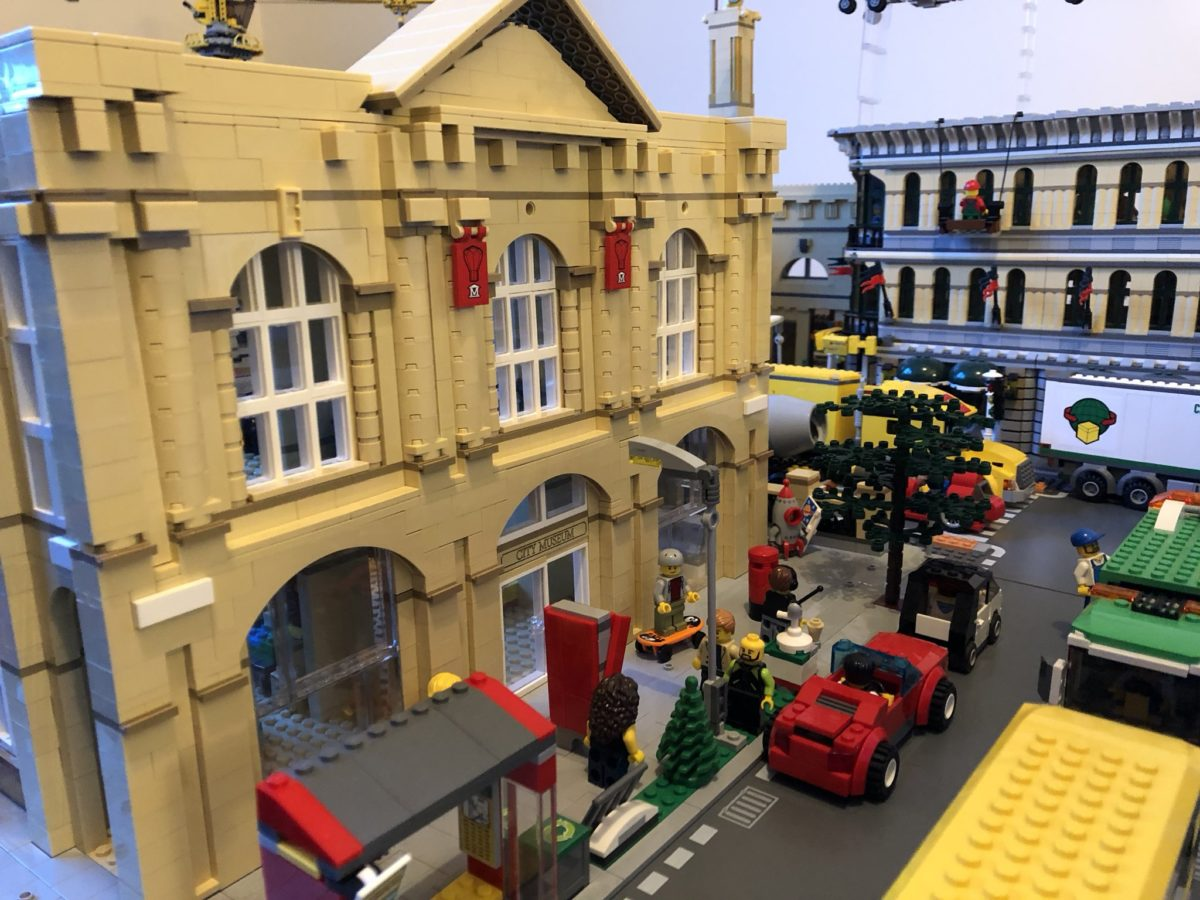 LEGO City Museum model by Bricks McGee