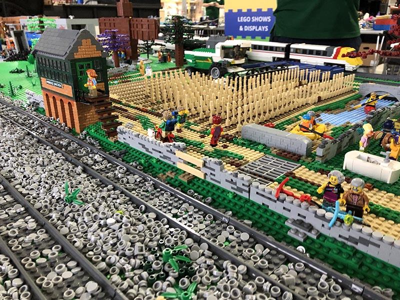 LEGO railway scenery models by Bricks McGee