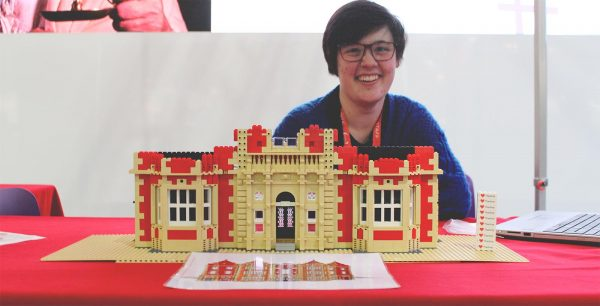 Katie with the Thackray Medical Museum LEGO model