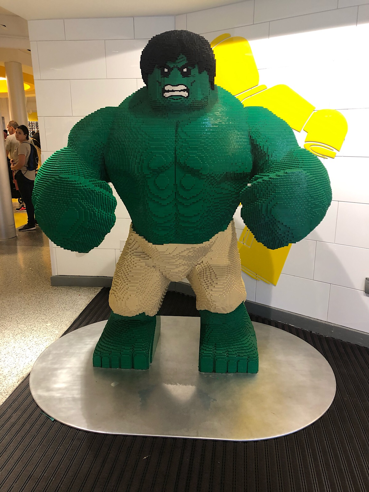 Huge LEGO Hulk figure model at Disney Springs, Florida