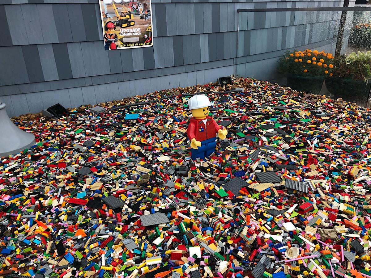 Under construction at LEGO Disney Springs