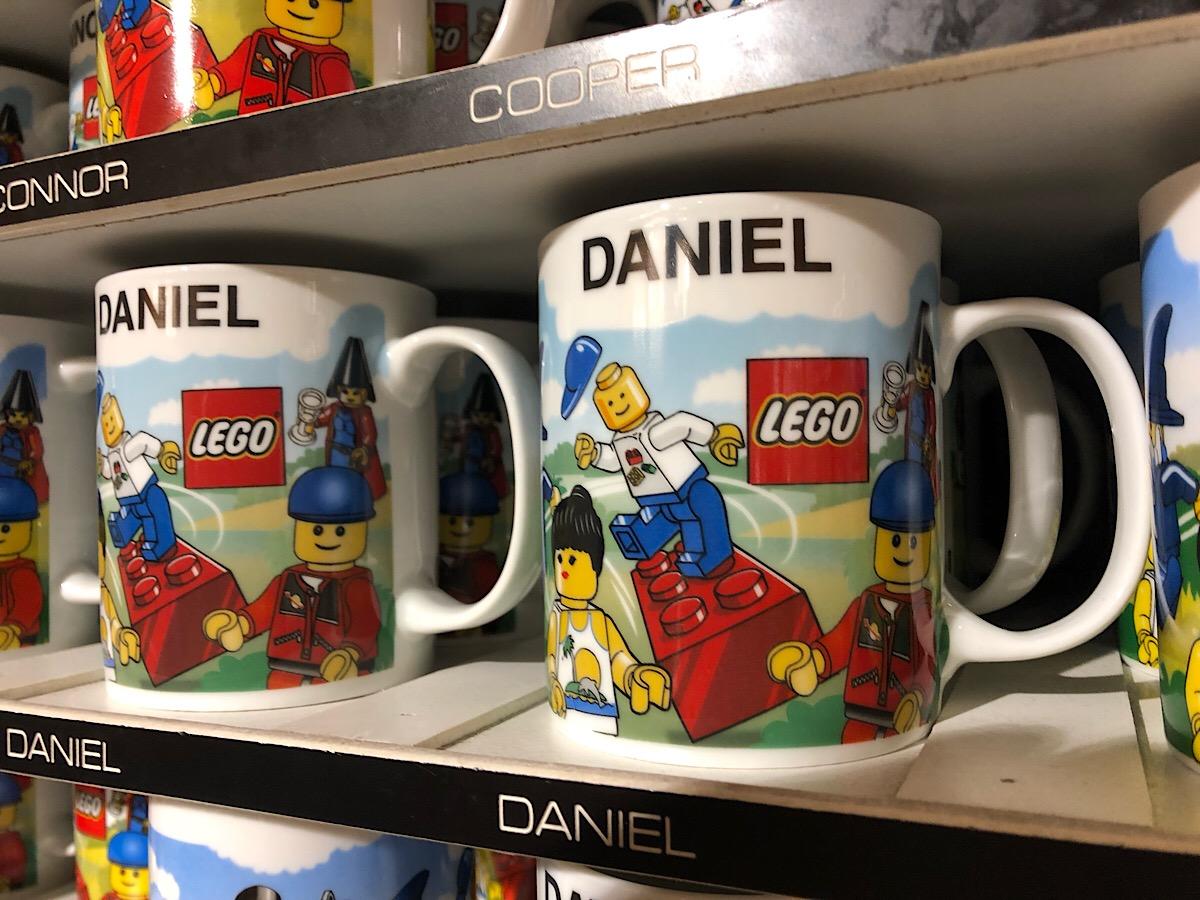 LEGOLAND mugs at Florida LEGO store