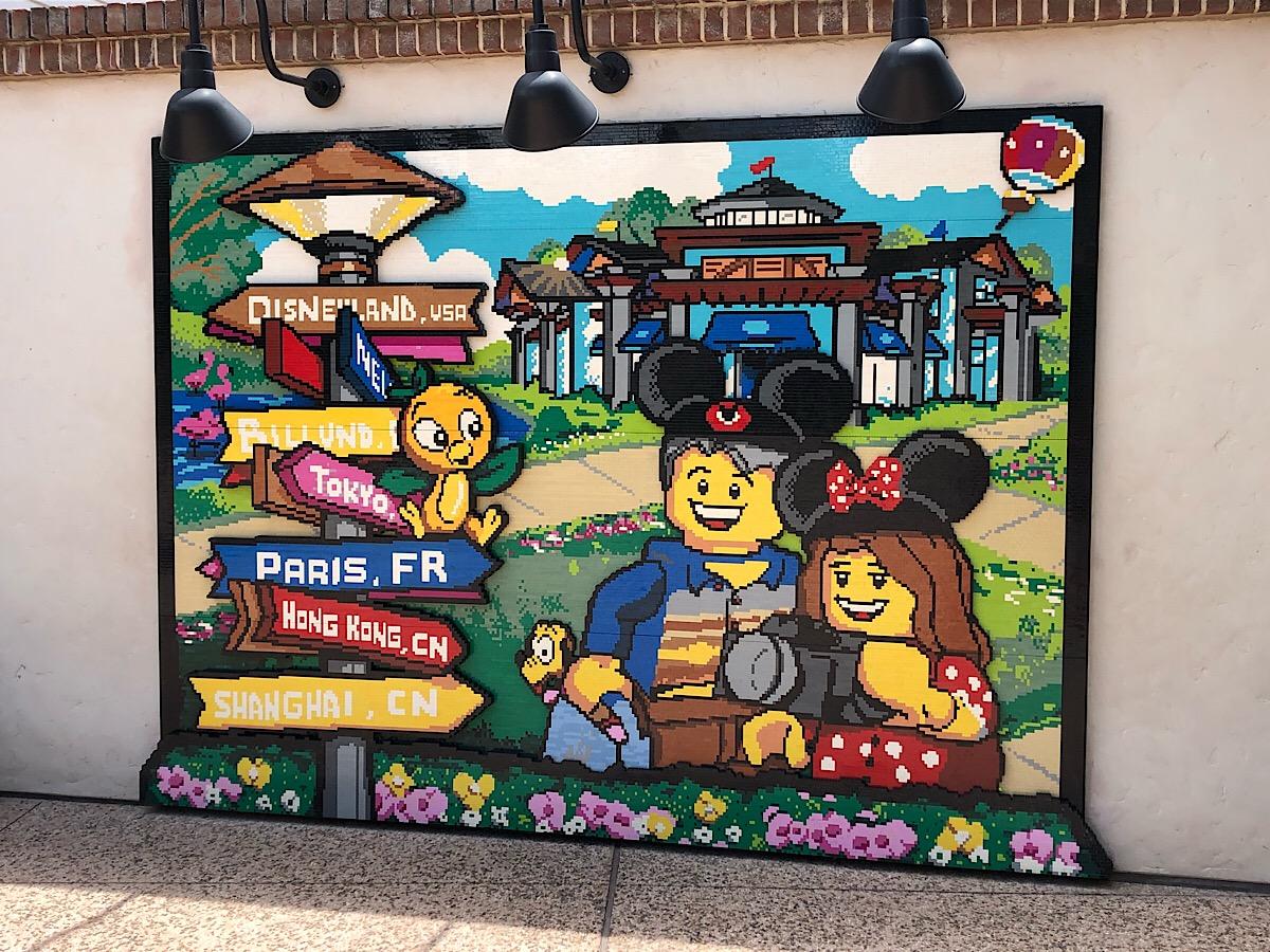 LEGO world mosaic at Disney Springs