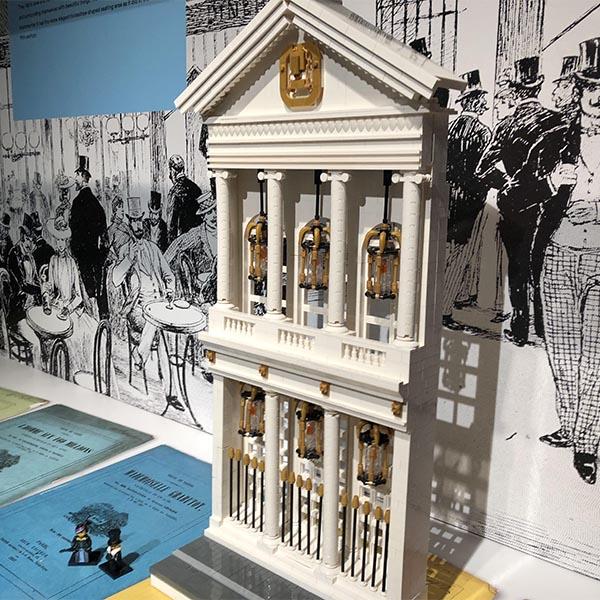 LEGO model of Théâtre des Variétés, Paris
