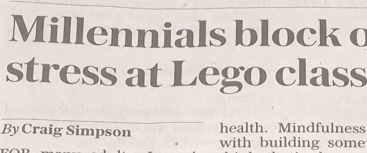 LEGO workshops and Bricks McGee in the Telegraph
