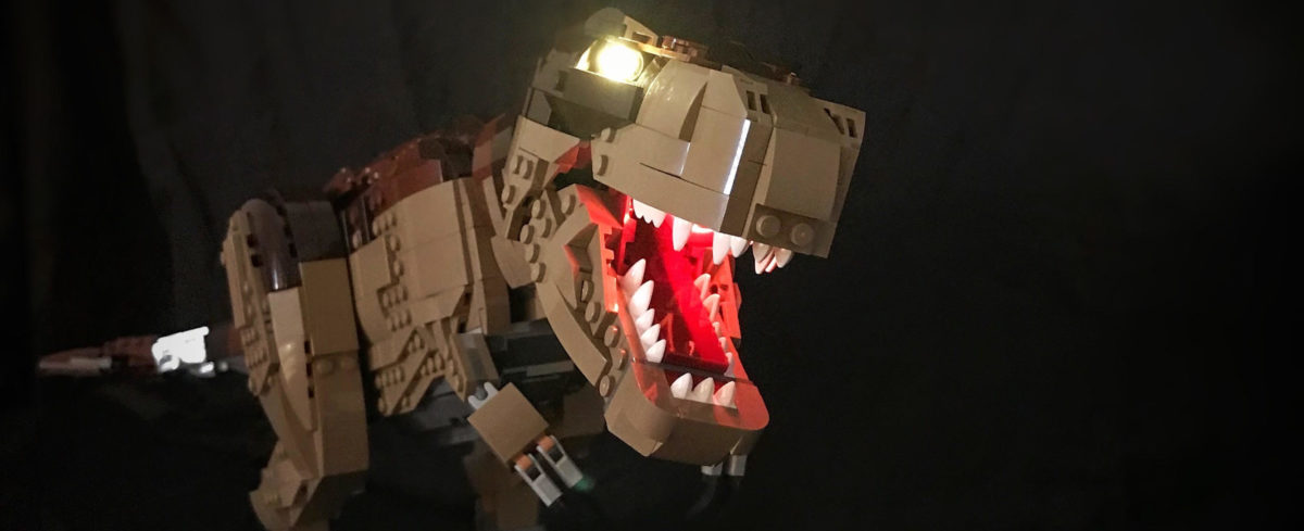 LEGO lighting kit for Jurassic Park gate set by Game of Bricks
